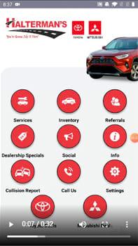 Mobile Dealer App Screen